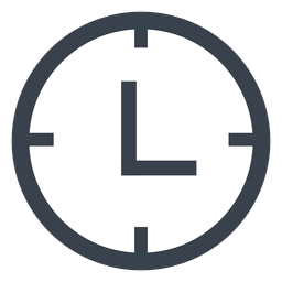 Icono de reloj de pared plana