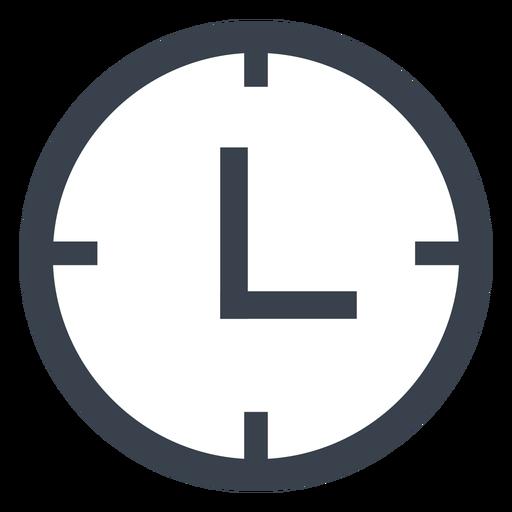 Icono de reloj de pared plana Transparent PNG