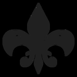 Broche floral icono negro