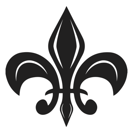 Floral brooch black icon Transparent PNG