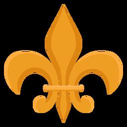 Icono de broche de flores
