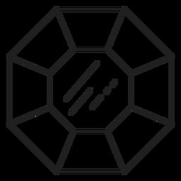 Gemstones black and white icon