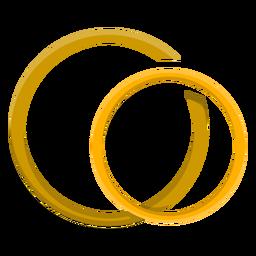 Vetor de anel de casal de ouro