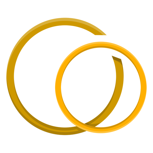 Gold couple ring vector Transparent PNG