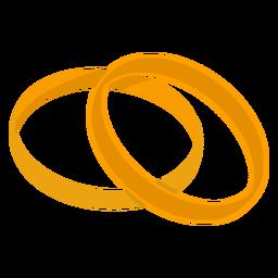 Pareja de oro anillos vector