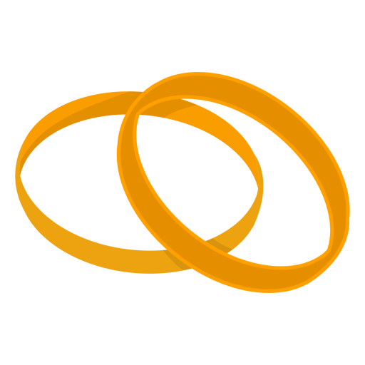 Gold couple rings vector Transparent PNG
