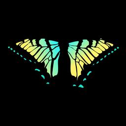 Design de borboleta verde e amarelo