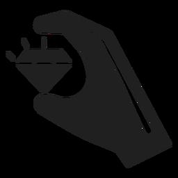 Mano que sostiene un icono de diamante