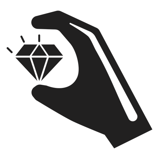 Hand holding a diamond icon Transparent PNG