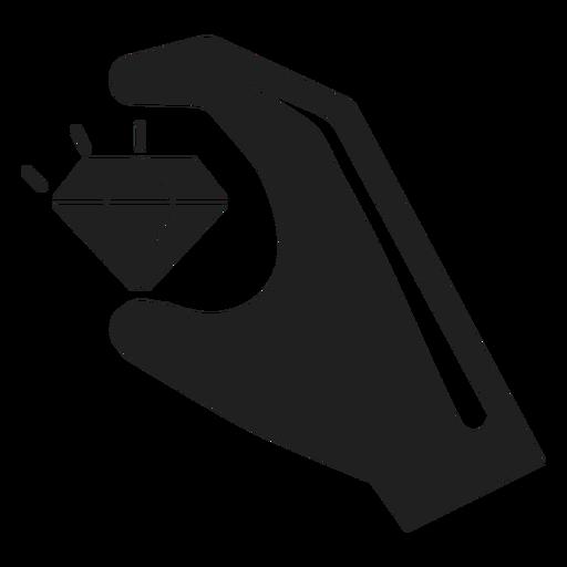 Mano que sostiene un icono de diamante Transparent PNG
