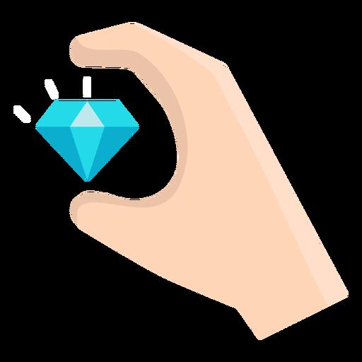 Mano con vector de diamante flotante Transparent PNG