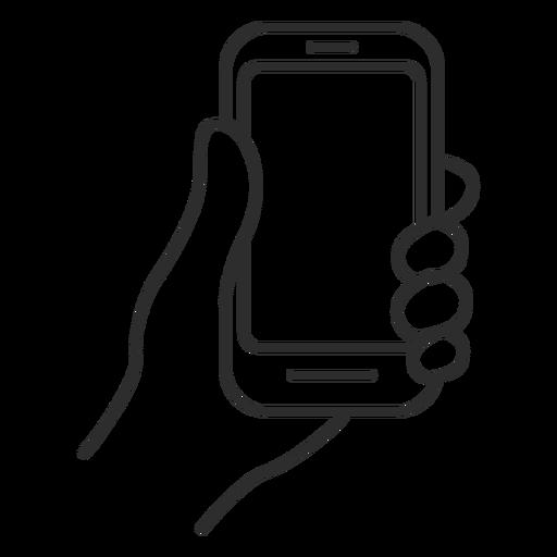 Handheld cellphone icon