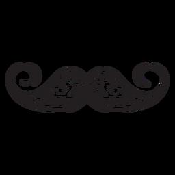 Handlebar style hand drawn icon