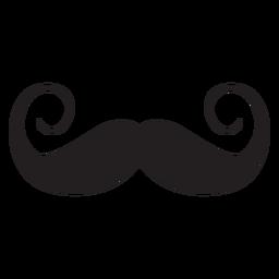 Handlebar style moustache icon