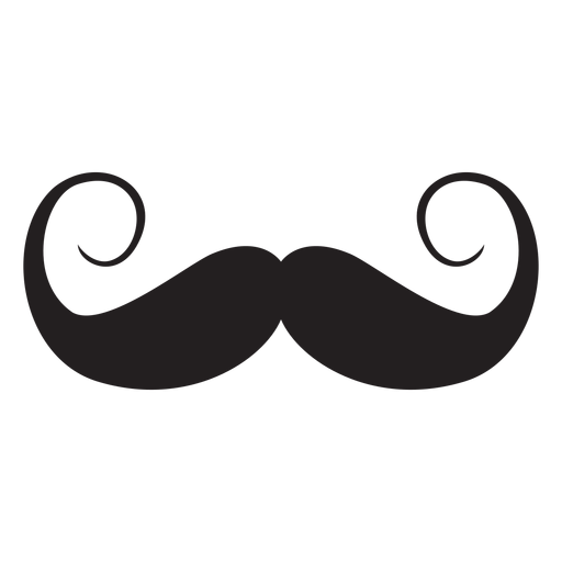 Handlebar style moustache icon Transparent PNG