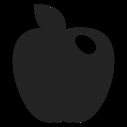 Hanukkah ícone preto de maçã