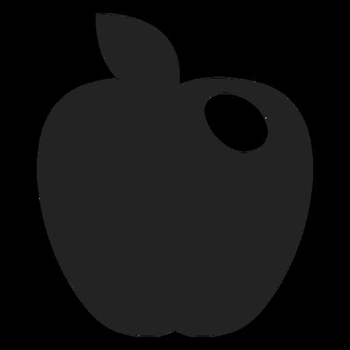 Hanukkah apple black icon Transparent PNG