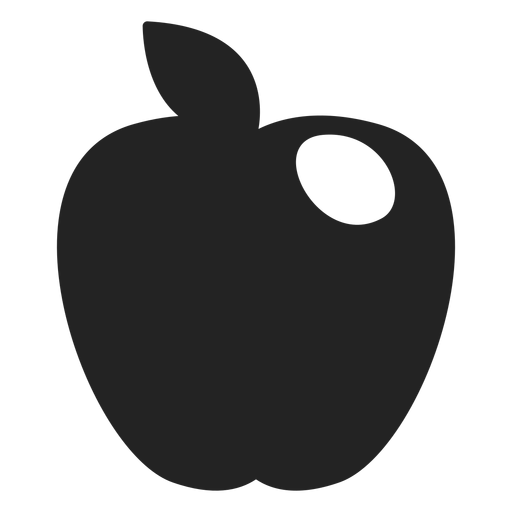Icono de manzana de Hanukkah negro