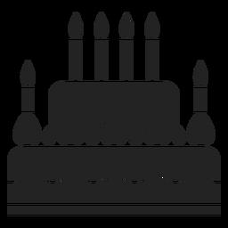Icono de pastel de Hanukkah