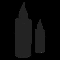Hanukkah candle icon hanukkah