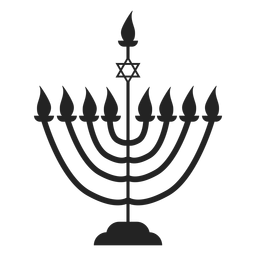 Ícone de menorah de vela de Hanukkah