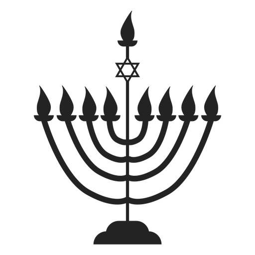 Ícone de menorah de vela de Hanukkah Transparent PNG