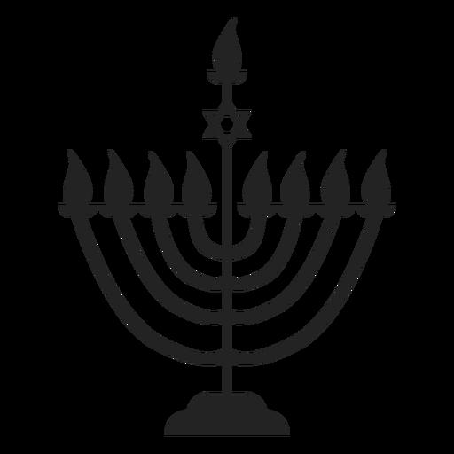 Icono de menorah de vela de Janucá Transparent PNG
