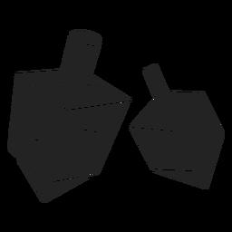 Chanukka Dreidel-Symbol