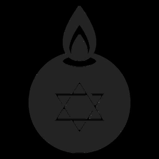 Hanukkah luz estrella de david Transparent PNG