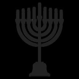 Icono de soporte de vela de menorah de Hanukkah