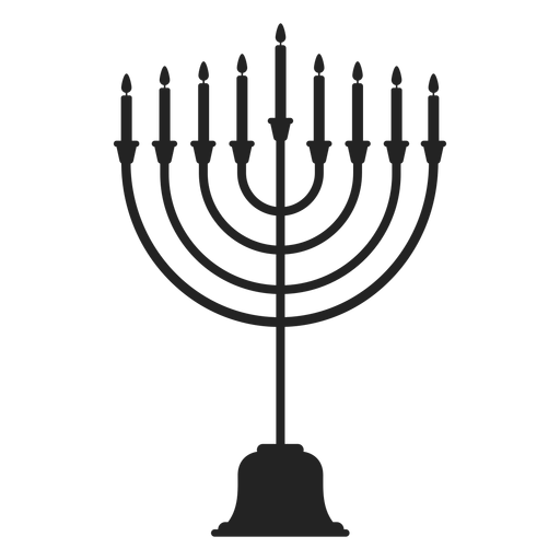 Hanukkah menorah candle stand icon Transparent PNG