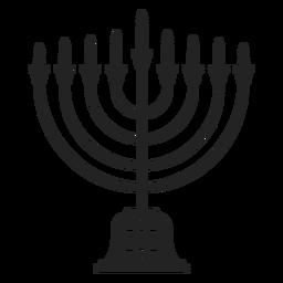 Icono de menorah de Hanukkah