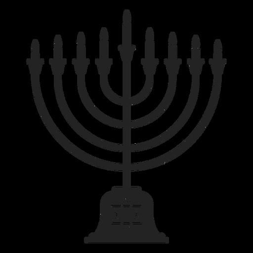 Icono de menorah de Hanukkah Transparent PNG