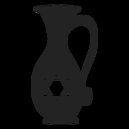 Hanukkah jarro de óleo ícone hanukkah