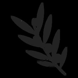 Hanukkah olive plant icon