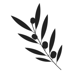 Icono de planta de olivo de Hanukkah