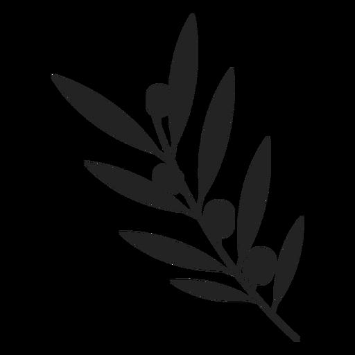 Icono de la planta de olivo de Janucá Transparent PNG