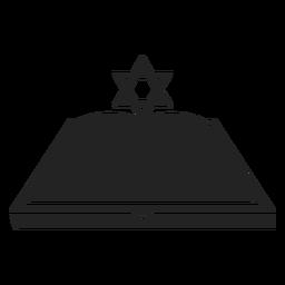 Chanukka-Symbol für offenes Buch