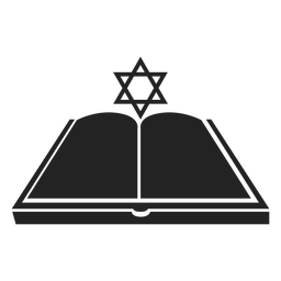Hanukkah open book icon
