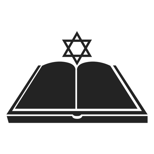 Hanukkah open book icon Transparent PNG