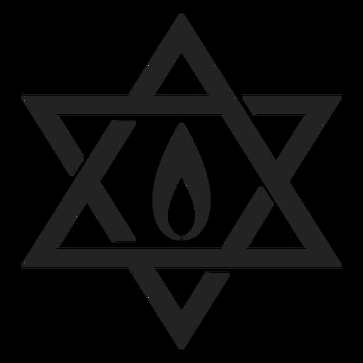 Hanukkah estrela de david Transparent PNG