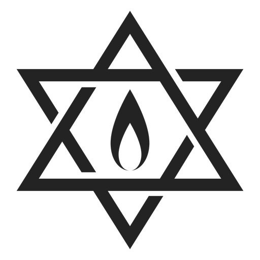 Hanukkah star of david Transparent PNG