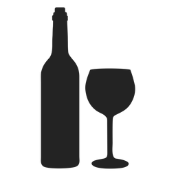 Hanukkah wine and cup icon