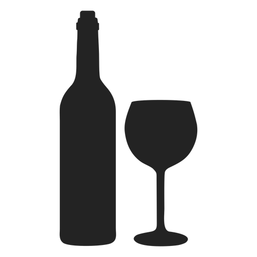 Hanukkah wine and cup icon Transparent PNG