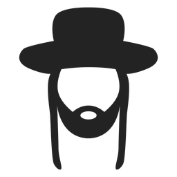 Chassidischer Jude Silhouette