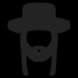 Silhueta de judeu hassídico