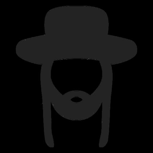Silhueta de judeu hassídico Transparent PNG