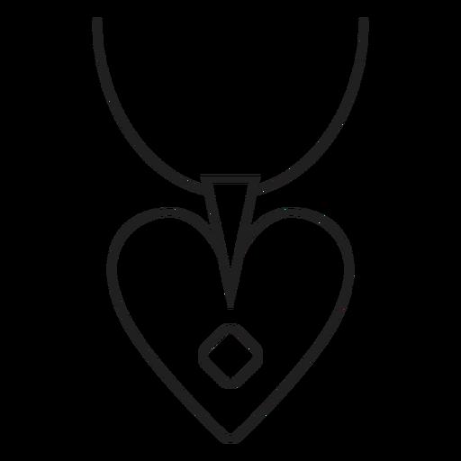 Heart pendant necklace icon Transparent PNG