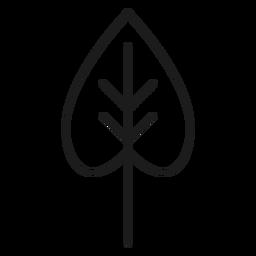 Icono de hoja en forma de corazón