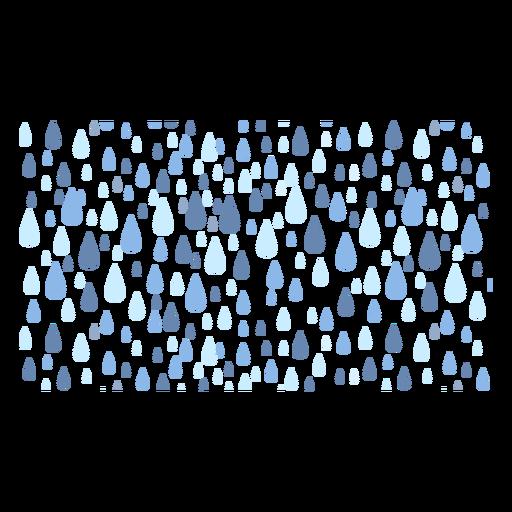 Vector de lluvia pesada